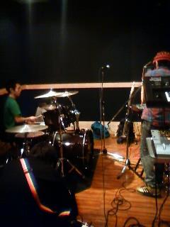 深夜のスタジオ
